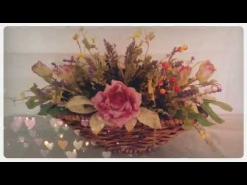 Composizioni Floreali Di Fiori Artificiali Youtube