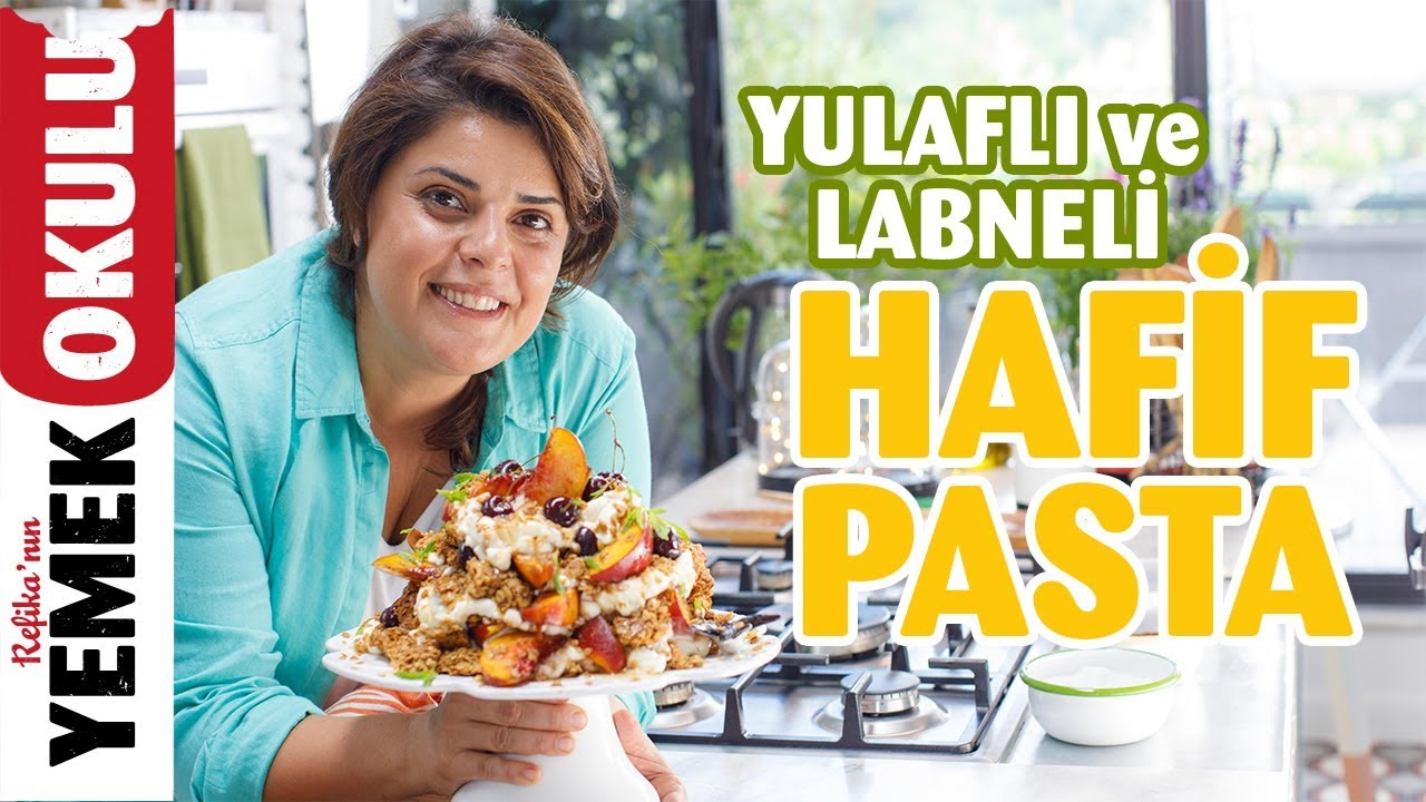 Yulaflı ve Labneli Hafif Pasta Tarifi | Kirazlı, Şeftalili Pasta