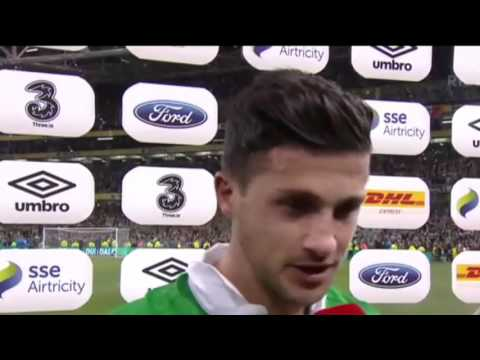 Republic of Ireland v Germany - Post Match Interview - Shane Long (8/10/15)