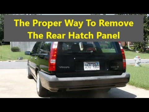 How to remove, install, and secure the rear hatch door panels, Volvo V70, V70XC, V70R and 850 – VOTD
