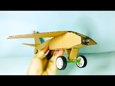 How to make a wooden airplane - Powered Electric Motor Airplane DIY - Very Easy