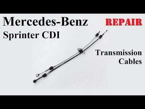 Mercedes Sprinter CDI Transmission Cables Repair / Мерседес Спринтер Ремонт тросов КПП