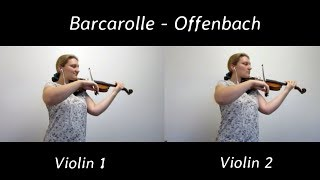 Barcarolle is the famous duet from opera tales of hoffmann by jacques offenbach. it was originally a for soprano and mezzo-soprano. but i very m...