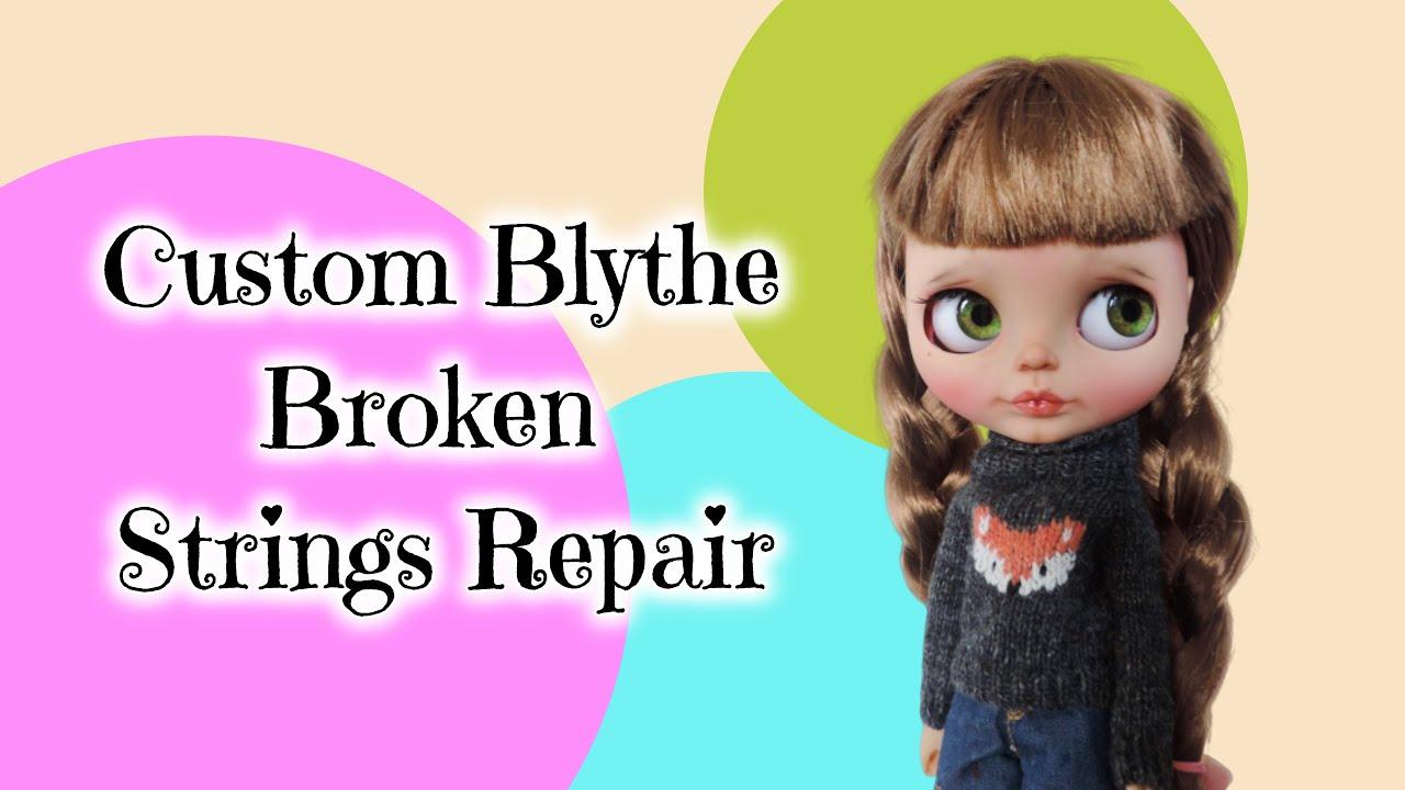 Yellow Custom Blythe Doll String Cord for Custom Blythe Pull Strings BeBe Blythe Co Custom Blythe Dolls Small Spool