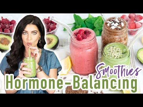 Drink THESE 3 Drinks to Balance Hormones & Increase Energy   Healthy Smoothie Recipes