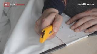 Натяжные потолки  Обвод трубы  Видеоинструкция720p