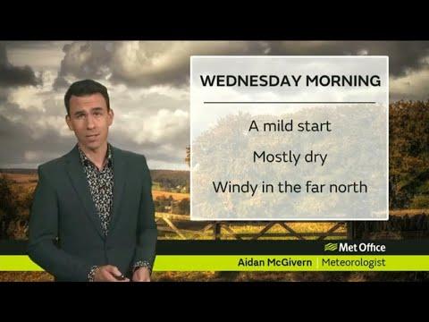Wednesday morning forecast 24/10/18