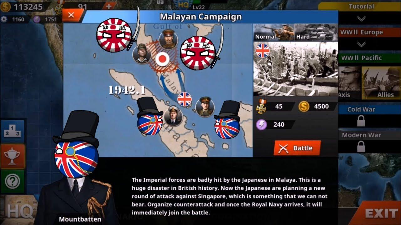 World Conqueror 4   Pacific War Allies Mission 2   Malayan Campaign   No  Hacks
