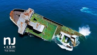 Drone captures dramatic sinking of the Cape May-Lewes ferry
