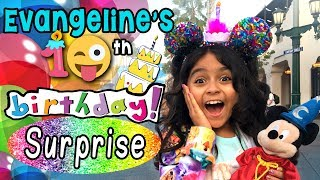 Evangeline 10th Birthday - Surprise Party at Disneyland : Vlog It // GEM Sisters