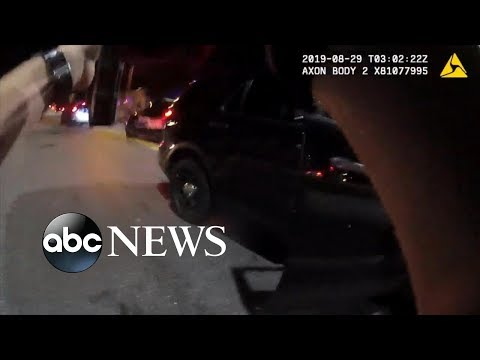 Police officers unleash a barrage of bullets on suspect | ABC News
