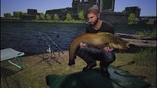 Euro Fishing MOAT WELSH CASTLE my first Catfish