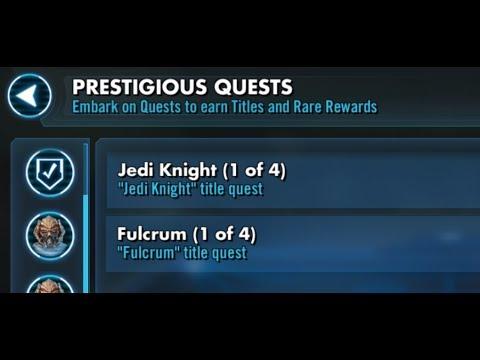 SWGOH Prestigious Quests - 2 at a time