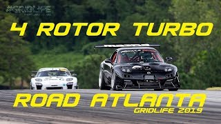 4 ROTOR TURBO RX7 FIRST SHAKEDOWN! RACETRACK GRIDLIFE 2019 ROAD ATLANTA SCREAMING USA!