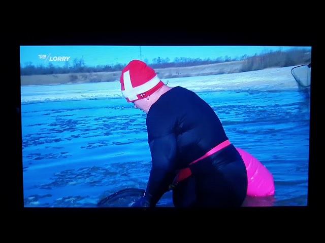 13.2.2021 Tak til TV 2 Lorry der var med til isbrydning og issvømning i Himmelsøen ❤ Mette