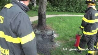 Fire Extinguisher Knocks Porta Potty Arson Fire at Dryden School