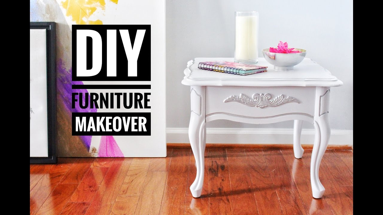 diy furniture makeover goodwill thrift store end tables youtube