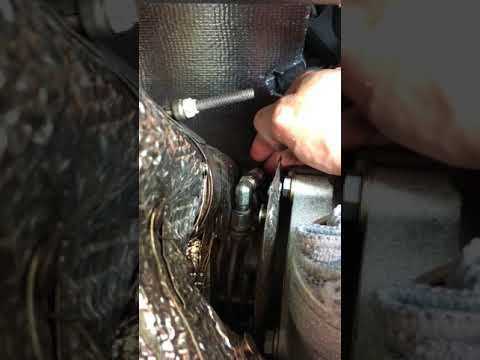 Oil feed line - Loose 90* fitting