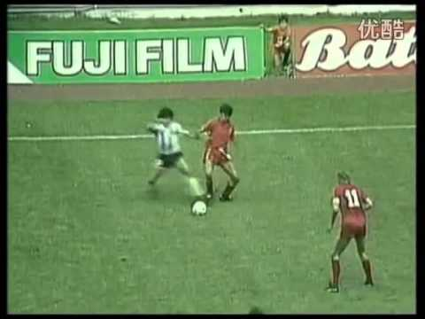 Maradona vs Belgium in World Cup 1986 (every touch)