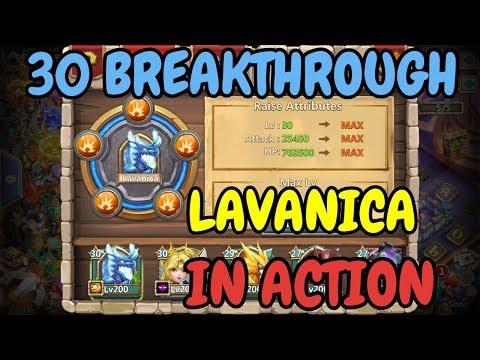 30 Breakthrough Lavanica In Action L Castle Clash