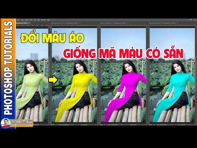 Cách Đổi Màu Áo Giống Với Mã Màu Có Sẵn 🔴 MrTriet Photoshop Tutorials