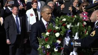 President Obama at Tomb of the Unknown Soldier (C-SPAN)