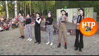В Нижнекамске впервые выступил уличный театр «Лёгкие крылья»