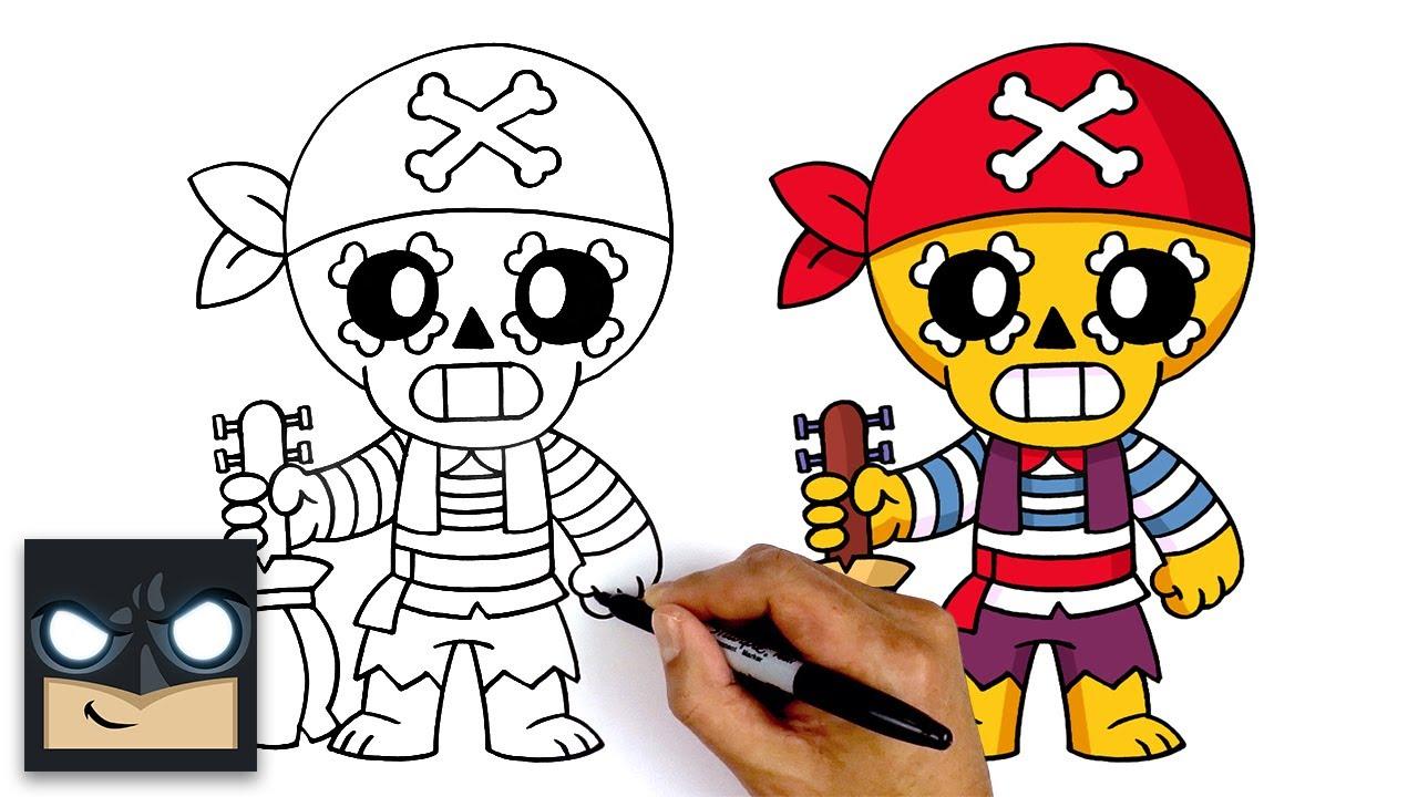 How To Draw Brawl Stars 🏴☠️ Pirate Poco