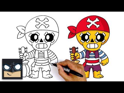 How To Draw Pirate Poco 🏴☠️ Brawl Stars