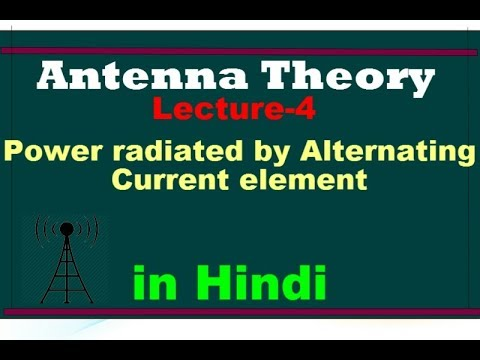 Antenna LEC 04 Power Radiated by Alternating Current element