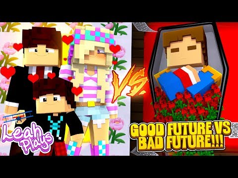 Minecraft: Little Leah Plays PORTAL TO THE GOOD FUTURE LIFE VS PORTAL TO THE BAD FUTURE LIFE!!!
