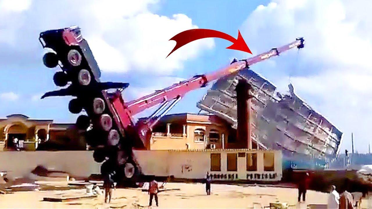 TOP 10 Dangerous Cranes Fails & Crashing/ Dump Truck Driving Gone Bad/ Destroy Offshore Rig