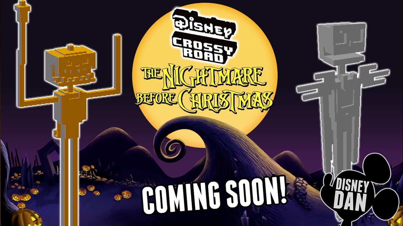 Disney Crossy Road Nightmare Before Christmas Characters and World ...