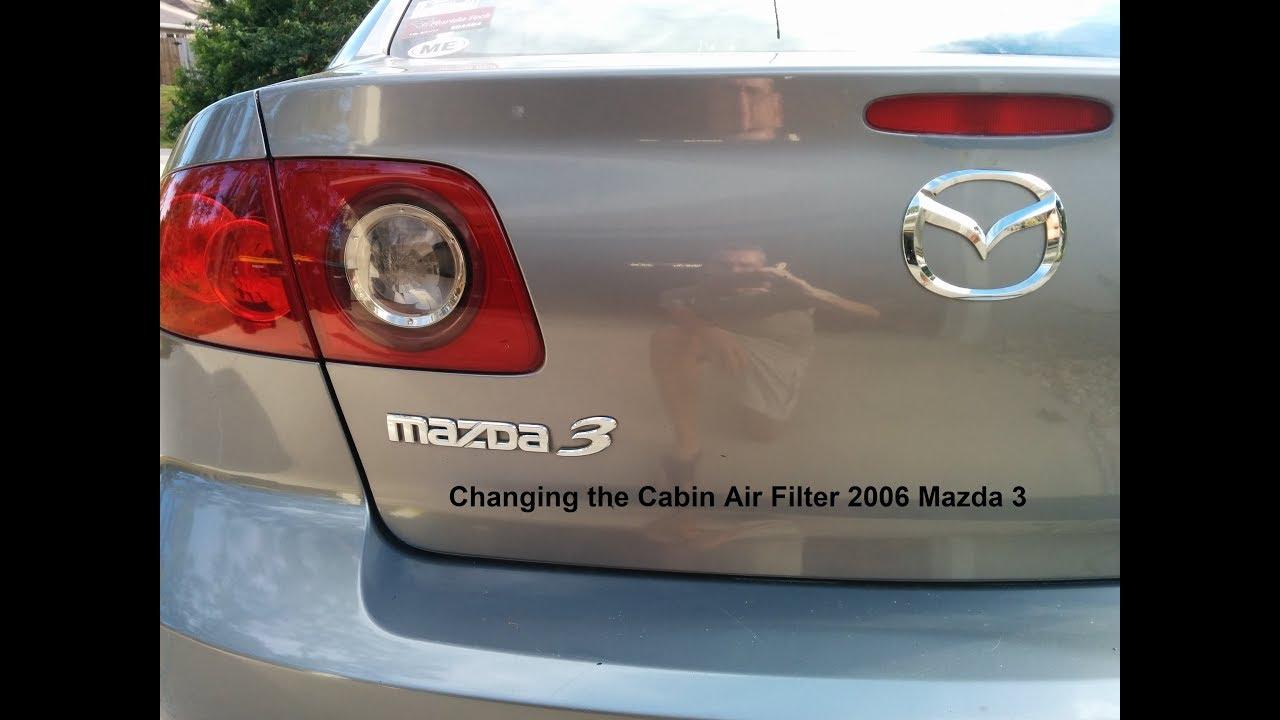 2006 mazda 3 cabin air filter replacement [ 1280 x 720 Pixel ]
