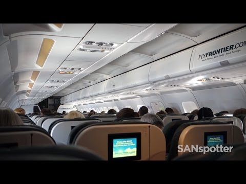 San Diego to Denver on a Frontier Airlines Airbus A319