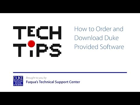 How to Order and Download Duke Provided Software