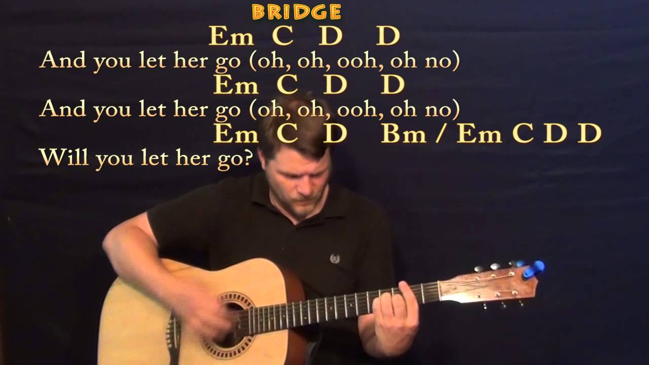 Let Her Go (Passenger) Strum Guitar Cover Lesson with Chords / Lyrics - YouTube