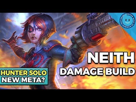 SMITE: HUNTER SOLO LANE META? NEITH SOLO BUILD AND GAMEPLAY!