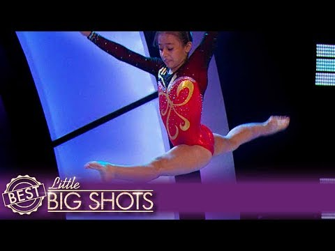 Laura Does More Gymnastic Tricks Than You Can Count  Colombia Little Big Shots