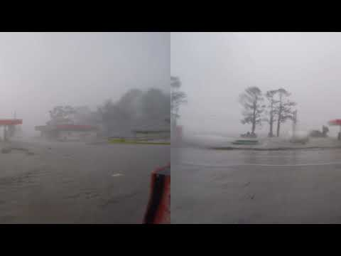 Eastpoint, Florida Storm Surge from Hurricane Michael