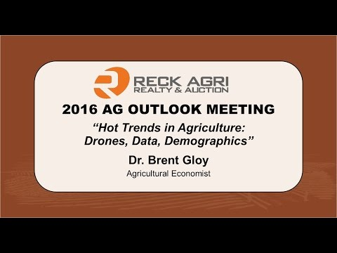 Hot Trends in Agriculture:  Drones, Data, Demographics