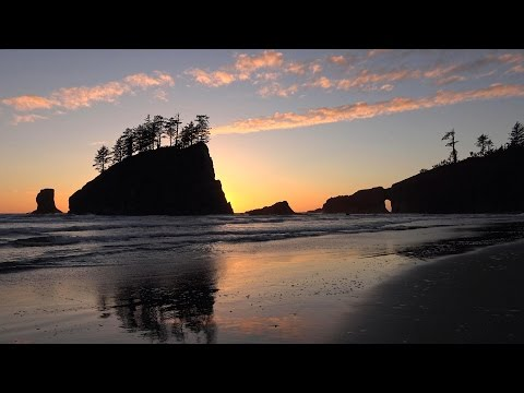 Olympic National Park Beaches, Washington, USA in 4K (Ultra HD)