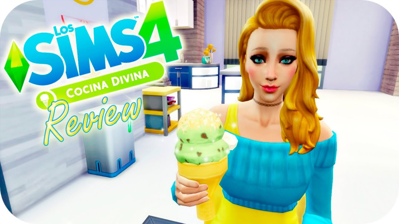 review los sims 4 cocina divina pack de accesorios cas construccin gameplay youtube