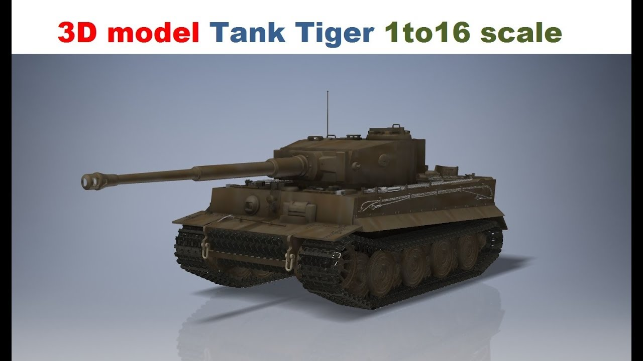 3D model Tank Tiger 1 World of Tanks scale 1to16 scale