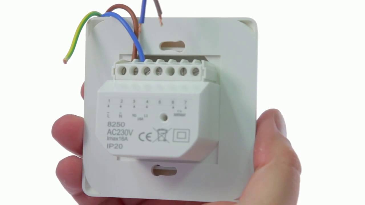 How to wire up the comfortzone manual thermostat 8250 youtube how to wire up the comfortzone manual thermostat 8250 asfbconference2016 Choice Image