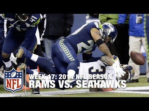 Earl Thomas Forces Benny Cunningham Fumble at Goal Line    Rams vs. Seahawks (Week 17, 2014)   NFL
