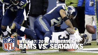 Earl Thomas Forces Benny Cunningham Fumble at Goal Line  | Rams vs. Seahawks (Week 17, 2014) | NFL