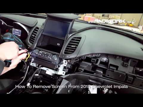 HOW TO REMOVE My-Link Screen 2015 Chevrolet Impala By 인디웍 Indiwork