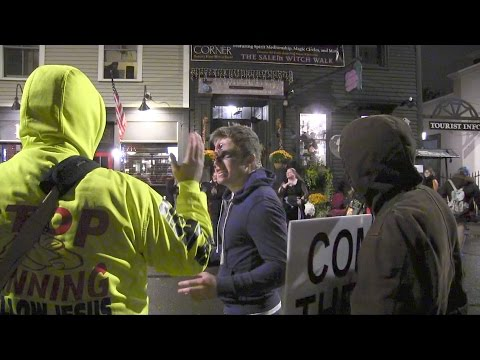 Salem, MA Street Preaching Around Halloween | Cops, Psychics & Liars! | Kerrigan Skelly