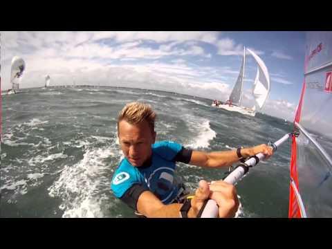 Guy Cribb- Windsurfer vs Extreme 40, 2011
